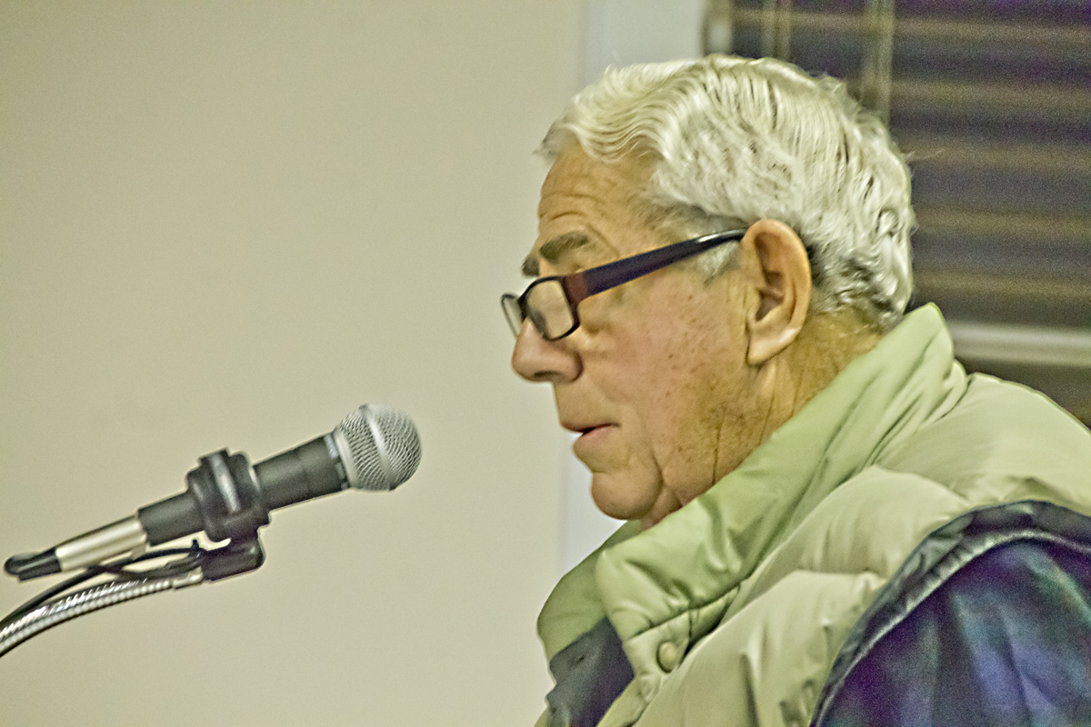 Reg Tuthill, speaking on behalf of his family, addressed the town Planning Board at its meeting Monday night. (Credit: Paul Squire)