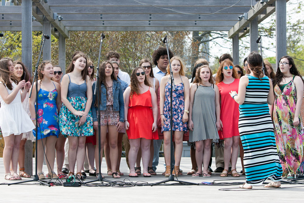 Riverhead High School's a capella group. (Credit: Katharine Schroeder)