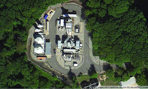 The kerosene-fired plant is located just north for the village's sewer treatment facility. (Google Maps)
