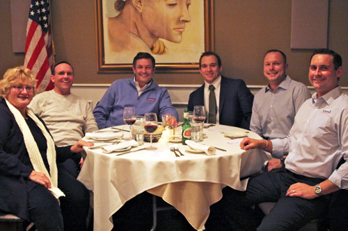Mattituck Chamber of Commerce members met at Michelangelo's restaurant Wednesday night to discuss local business, town and school issues. (Credit: Jen Nuzzo photos)