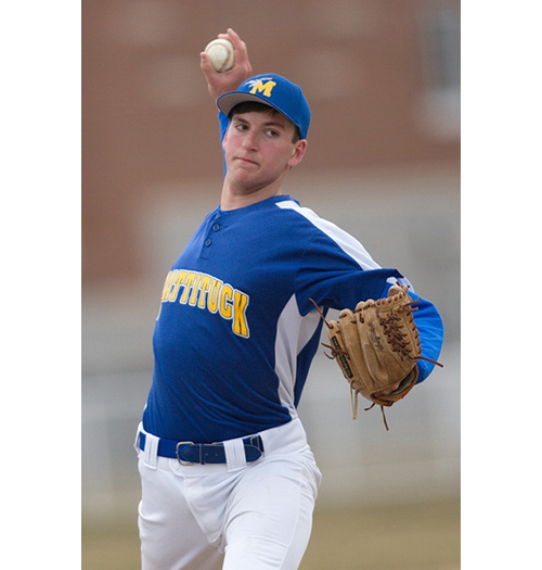 GARRET MEADE FILE PHOTO | Mattituck's starting pitcher Cameron Burt.