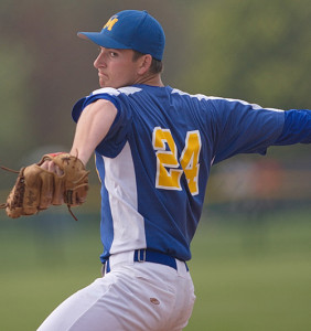 GARRET MEADE PHOTO | Mattituck's starting pitcher, Cameron Burt (6-3), gave up five runs (two earned) and five hits before making way for Chris Dwyer after five and two-thirds innings.