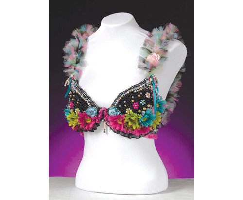 'A Thing of Beauty,' beaded bra by Cheryl Daters of Riverhead. (Credit: Jim Lennon)