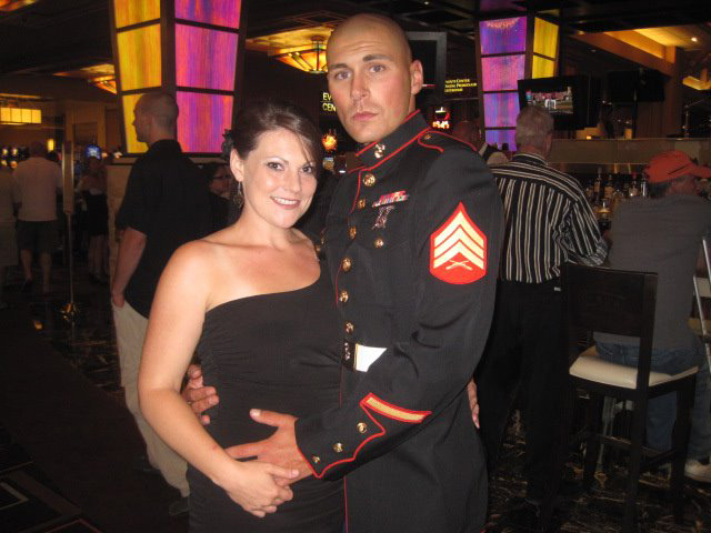 Staff Sgt. Rob Surozenski and his wife, Sara LeDonne. (Credit: Courtesy)