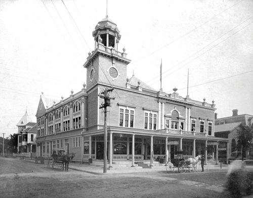 A circa 1900 photo taken a year after the Greenport Opera House was built at Main Street and Bay Avenue. (Credit: The Historical Collection at Mike Richter Photography)